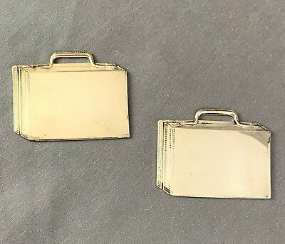 Lot of 2: Vintage Reed & Barton Sterling Silver Luggage Tag