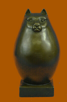 Modern Art - Fat Cat, Signed Milo A Tribu Bronze Sculpture Hot Cast Figure