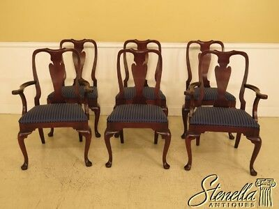 L45139EC: Set Of 6 HICKORY CHAIR CO. Mahogany Dining Room Chairs