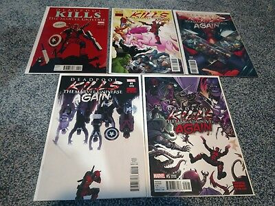Deadpool Kills The Marvel Universe Again 1-5 Variant Lot