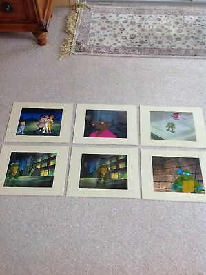 6 Vintage 1987-1991 Ninja Turtles Animation Art