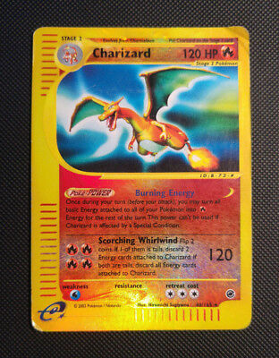 Charizard Reverse Holo, Expedition Base Set, english, played, very rare