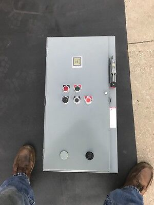 Square D 3 phase 15 amp starter panel.  Never used. Has HL060  Circuit breaker