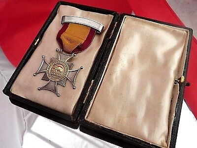 Silver Antique Army Temperance Association Abstinence Medal with Original Case!