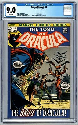 Tomb of Dracula #4 CGC 9.0 Romita Adams Cover 1972 White Pages