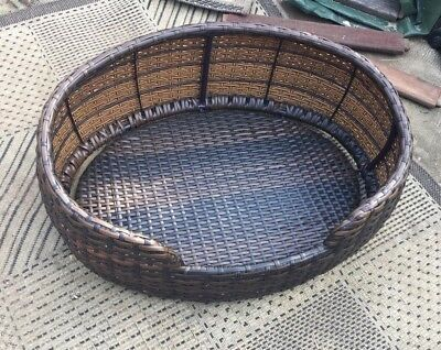 Fake Wicker Pet Bed Basket Cat Or Small Dog
