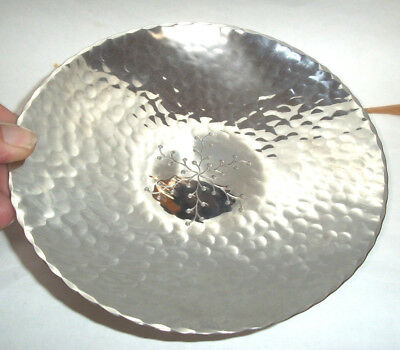 VINTAGE Keswick KSIA Hammered Design metal Bowl- D279