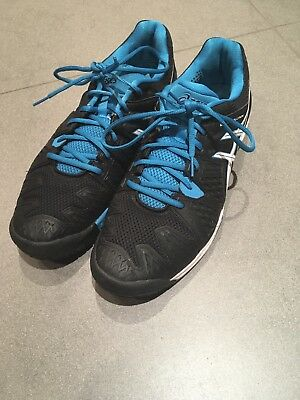 Black And Blue Asics Gel Resolution 6  - Size UK 12 - Tennis Shoes