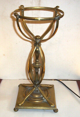FINE ANTIQUE Arts & Crafts Brass Oil Lamp Base - Was Benson style