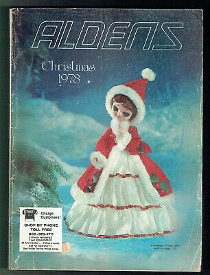 1978 Aldens Christmas Catalog Toys Clothes Electronics Jewelry Home Furnishings!