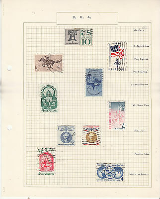 UNITED STATES Coll. On old Album Page to 1960,.... U   Removed for Shipping...