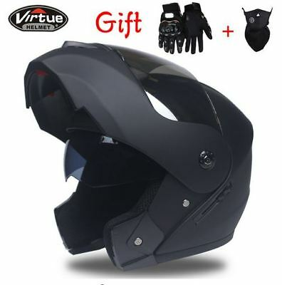 Motorcycle Helmet With Inner Sun Visor Flip Up Full Face Moto Helmets Motocross