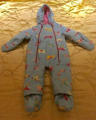 Joules Snowsuit 12 to 18 months girls