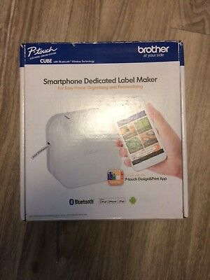 Brother P-Touch Cube Smartphone Label Maker, Bluetooth Wireless Technology,
