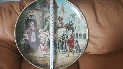 """Large 24"""" LEMP BREWING CO Tin Charger FALSTAFF Beer Advertising Reproduction"""