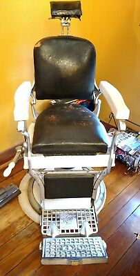 Antique Koken Barber Chair, original condition,