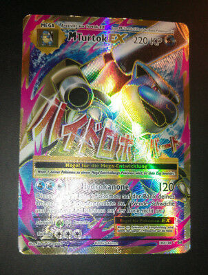 MTurtok Ex Fullart Holo, Evolutions, deutsch, played, Pokemon Karte