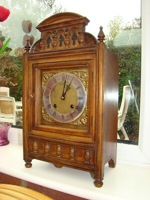 8 day ting tang German bracket clock working good mahogany case M B P 24647