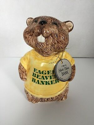 shirt tales bank eager beaver banker ceramic bank 1981