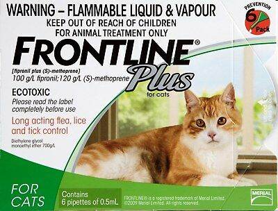 Frontline Plus Cat Green 3's - Treatment And Prevention Of Flea Infestations