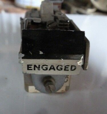 GPO Strowger UNUSUAL 3000 TYPE RELAY ENGAGED INDICATOR  50 OHM RESISTANCE
