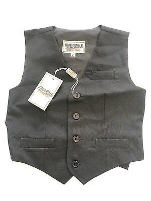 NWT Vitorio Romani Boy's Solid  Suit or casual Dress Vest SIZES:2-7