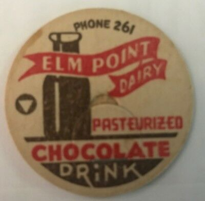 Elm Point Dairy -Believed To Be From St. Charles, Mo - Chocolate Milk Cap