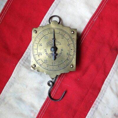Antique Brass Hanging Scale Chatillon