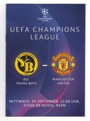 2018/19    Young Boys Berne  v  Manchester United  -  MINT  -  Programme