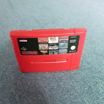 100 in 1 Super Nintendo SNES Multi cart PAL Mario World Street Fighter SALE !!