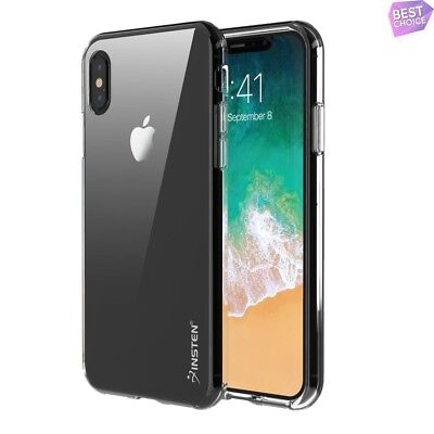 Clear TPU Rubber Silicone Skin Shockproof Soft Case Cover For Apple iPhone X/XS