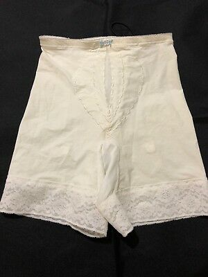 "Vintage ""I Can't Believe Its A Girdle"" Playtex Long Garters 2509 White Panty"