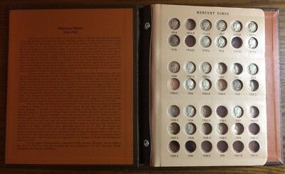 Mercury Dime Collection in Dansco Album - 45 Coins Total