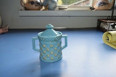 """5"""" Netted sugarbowl blue opaque"""