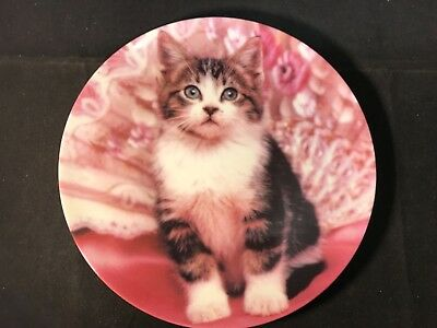 """The Crestley Collection """"Perfectly Posed"""" Kitten Collector Plate #2124A 1993"""