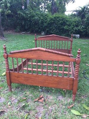 Antique Jenny Lind Spindle Bed Late 1800S Looks Like Cherry