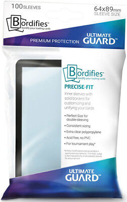 Precise-Fit Bordifies Sleeves (100ct) - Clear Ultimate Guard GAMING SUPPLY NEW