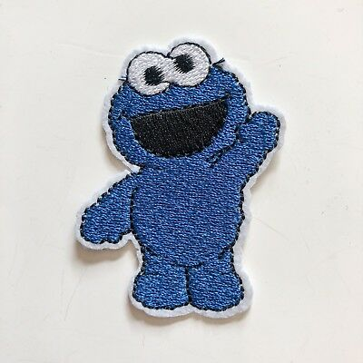 Cokkie Monster Sign Logo Toy boy kid Sew Iron On Embroidered Patch Applique