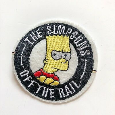 The Simpsons Comic Sign Logo Toy boy kid Sew Iron On Embroidered Patch Applique