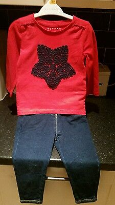 Girls jeans and top set 2-3 years