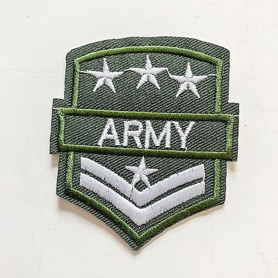 Army USA Green Sign Logo Toy boy kid Sew Iron On Embroidered Patch Applique