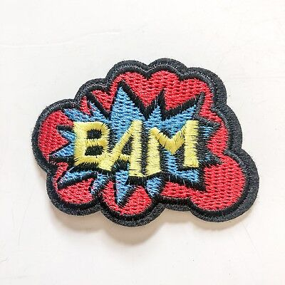Cartoom Bam Sign Logo Toy boy kid Sew Iron On Embroidered Patch Applique