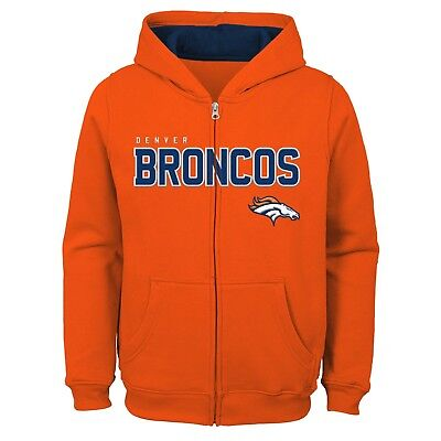 Wholesale DENVER BRONCOS YOUTH NFL Game Stated Full Zip Hooded Sweatshirt  supplier