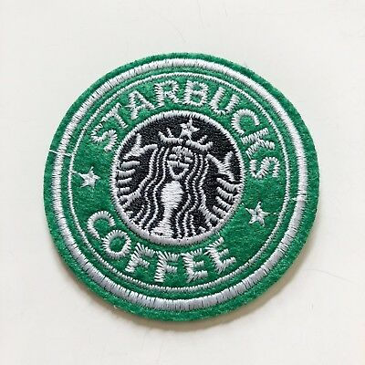 STARBUCKS coffe Uniform Sign boy kid Sew Iron On Embroidered Patch Applique