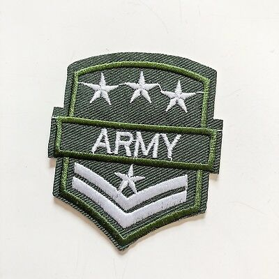 U.S. Army Uniform Sign Green Toy boy kid Sew Iron On Embroidered Patch Applique