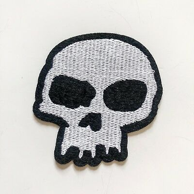 Skull Ghost Jacket Team Racing Racing Sew Iron On Embroidered Patch Applique