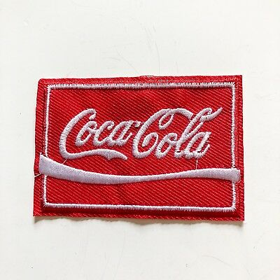 Cola Sign Logo Soda Drink Sew Iron On Embroidered Patch Applique