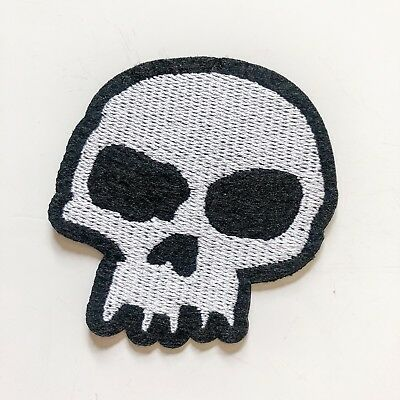 Skull Jacket Cool Sew Iron On Embroidered Patch Applique