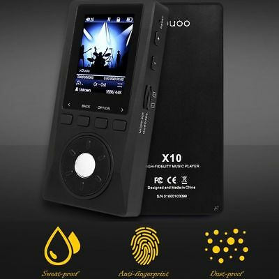 XDUOO X10 Lossless Music Player MP3 HD 2.0'' TFT LCD Support 2 SD Card 256G