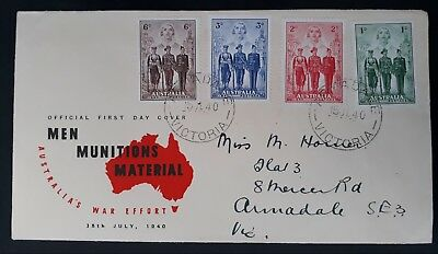 1940 Australia - Australian Imperial Forces Set on First day cover 15 JULY 1940